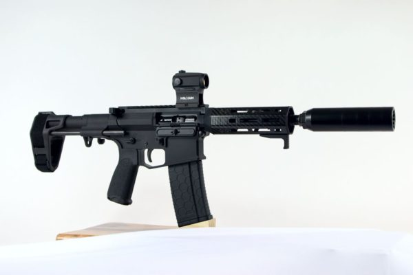 AR Pistol with Suppressor 3aw